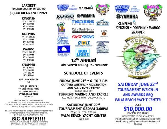 Entry Form | LAKE WORTH FISHING TOURNAMENT 2019